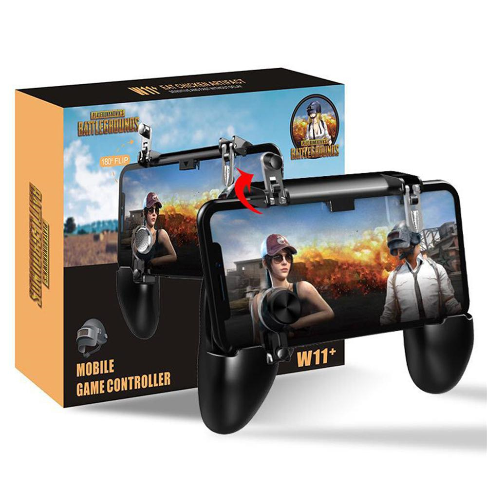 W11 <font><b>Joystick</b></font> Gamepad All-in-one mobile game game Fire-free Pad <font><b>PUBG</b></font> mobile game controller <font><b>PUBG</b></font> L1 R1 trigger per game image