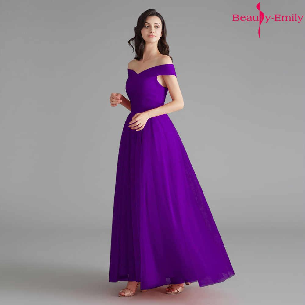 Vestido Largo De Dama De Honor 2019 Elegante De La Belleza