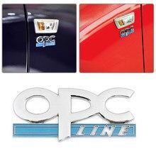 Autocollants durables de voiture, logo de ligne OPC 3D argenté, Badge de style de voiture, accessoires de voiture