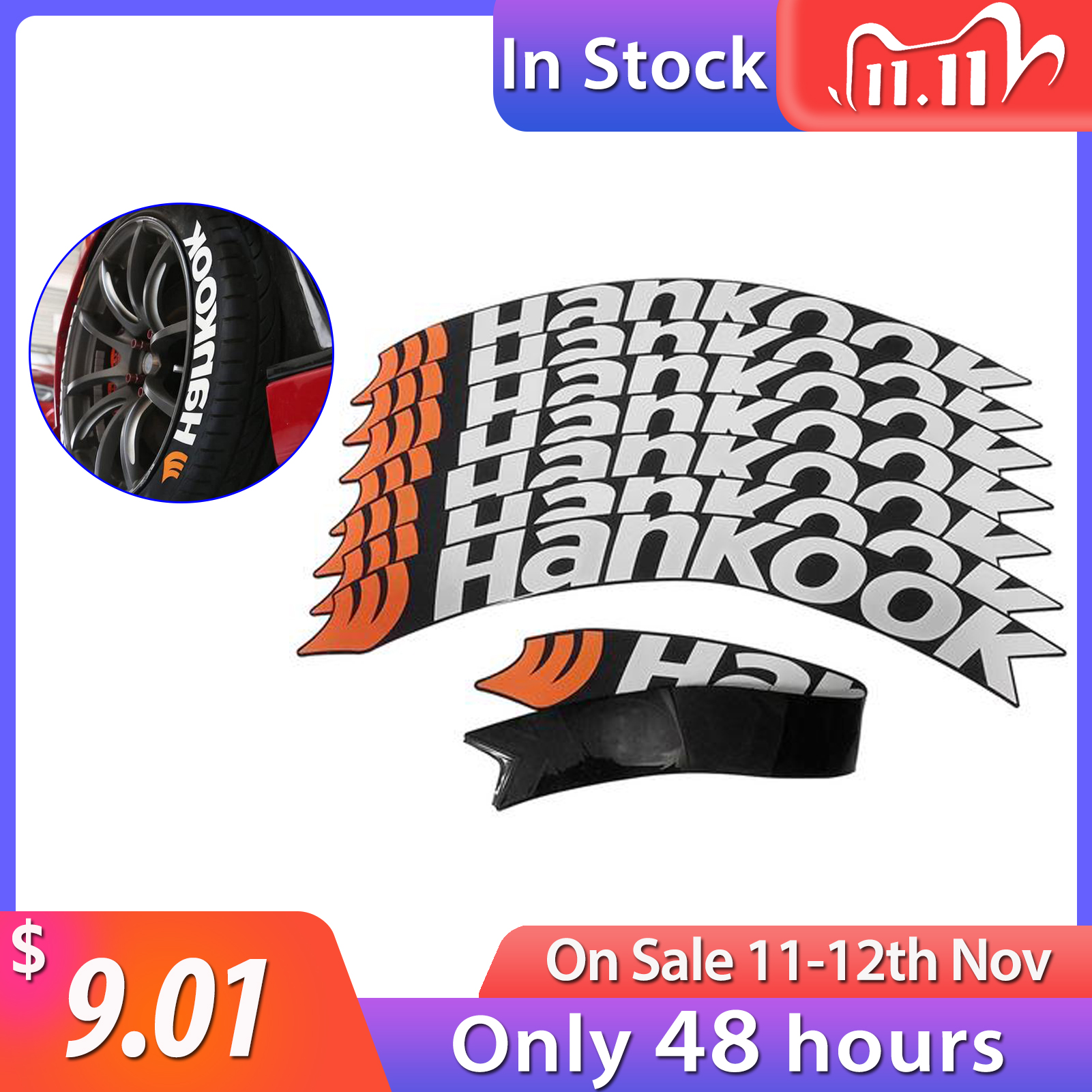 Rubber Letters Tire Sticker Car Tire Wheel Sticker Universal 3D Logo Auto Motorcycle Tires Stickers Wheels Label DIY Styling