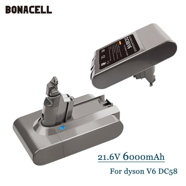 21.6V 6000mAh Replacement Battery for Dyson Li-ion Vacuum Cleaner SV09 SV07 SV03 DC58 DC61 DC62 DC74 V6 965874-02 Animal Battery 1