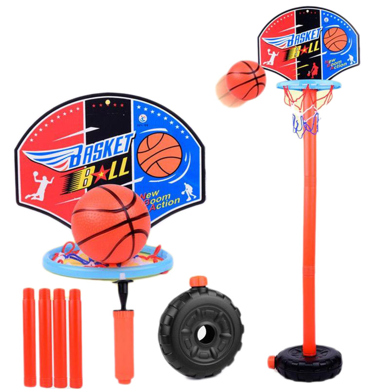 Children Basketball Playing Set Outdoor Sport Adjustable Stand Basket Holder Hoop Goal Game Mini Indoor Kids Yard Game Boy Toys