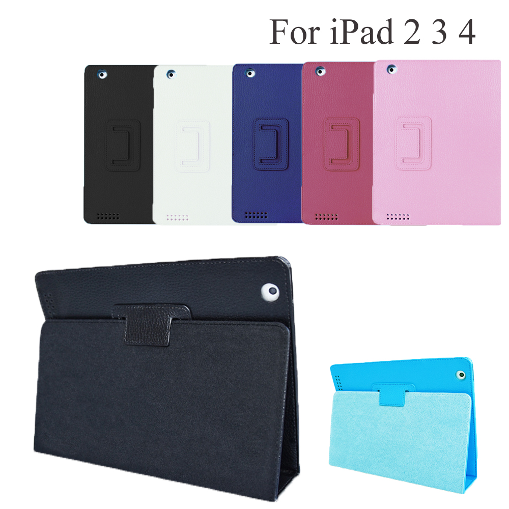 Shell Skin Cover Holder Protector For Apple iPad 2 3 4 9.7Inch Smart Magnetic Fold Flip Case For iPad A1395 A1396 A1416 A1458 image