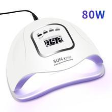 SUNX5 Max lámpara UV LED para secar esmalte de uñas, Gel de manicura, 80W/72W