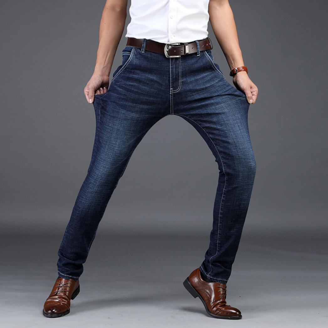 2020 NEW Straight Men's Pants Youth Stretch Casual Men's Waist Long Pants Men's Jeans XKJ113-29-41