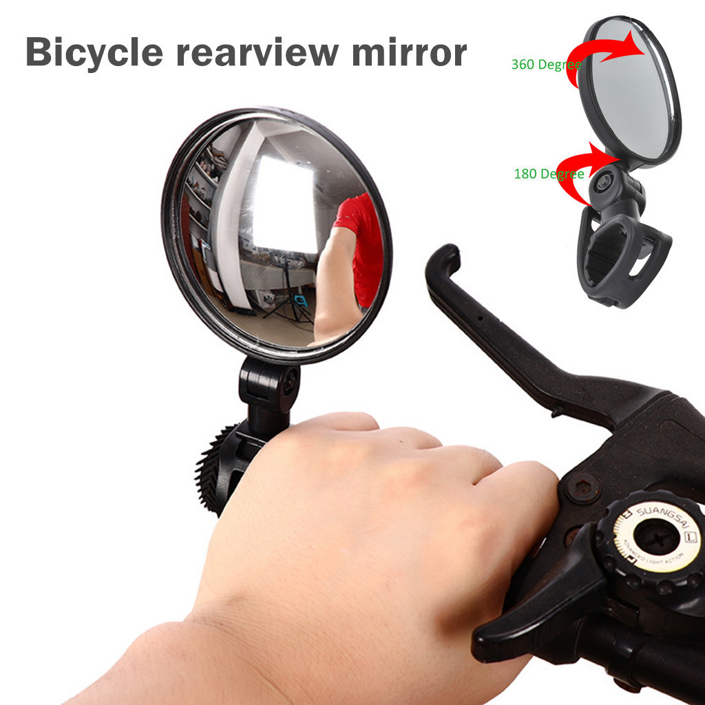Outdoor Riding Bicycle Rearview Mirror Wide-angle Plane Mirror Riding Equipment Rotate For Bike MTB Cycling Accessories 12.7