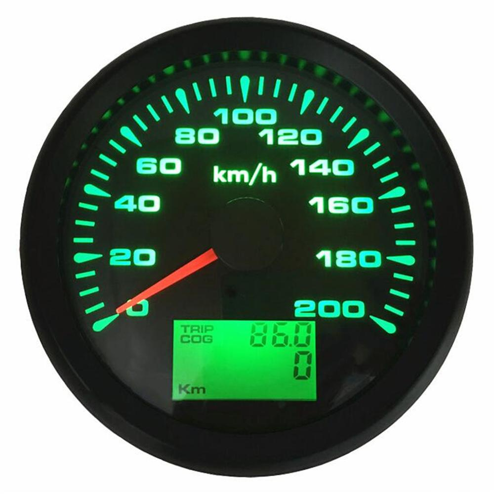 Kadir Koc 1pc Tuning Gauges Digital GPS Speedometers 0-999Knots MPH or Km//h 52mm Speed Indicators Motorcycle Meters Speed Odometers 9-32v with Red Backlight and GPS Antenna Black