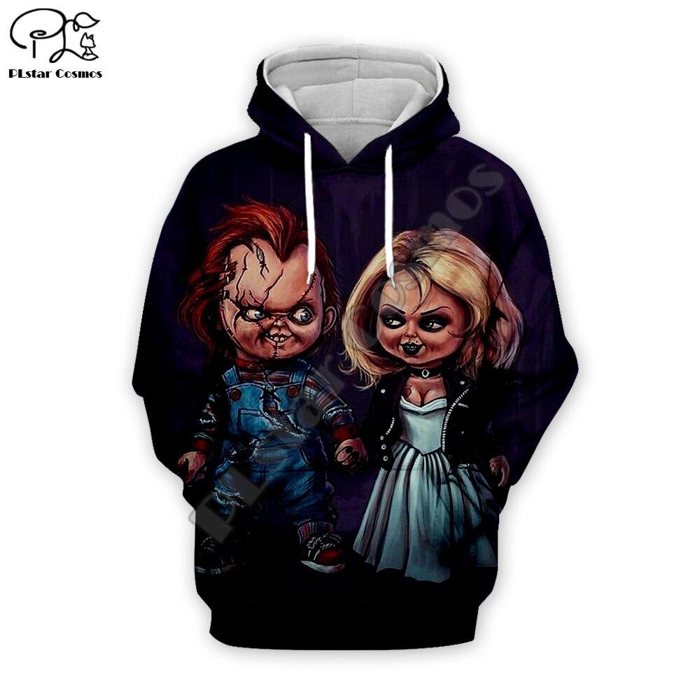 Men Halloween Child's Play Bride Of Chucky Doll 3d Print Hoodies Unisex Sweatshirts Casual Zipper Pullover Tracksuit
