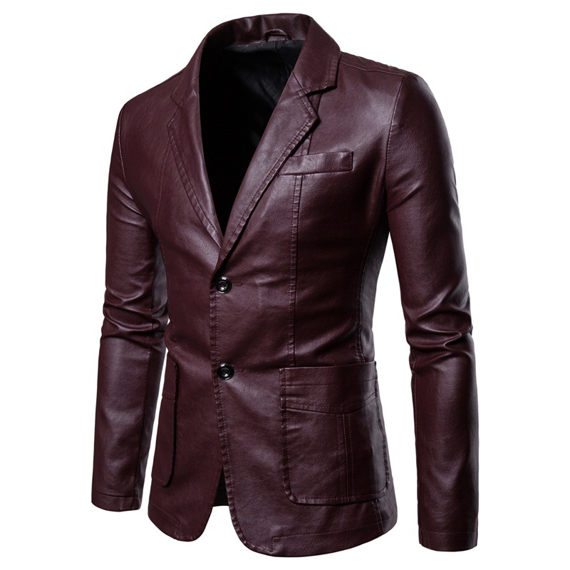 2019 Autumn And Winter New Style Fashion Ouma Men Casual Leather Coat AliExpress PU Leather Suit Men's