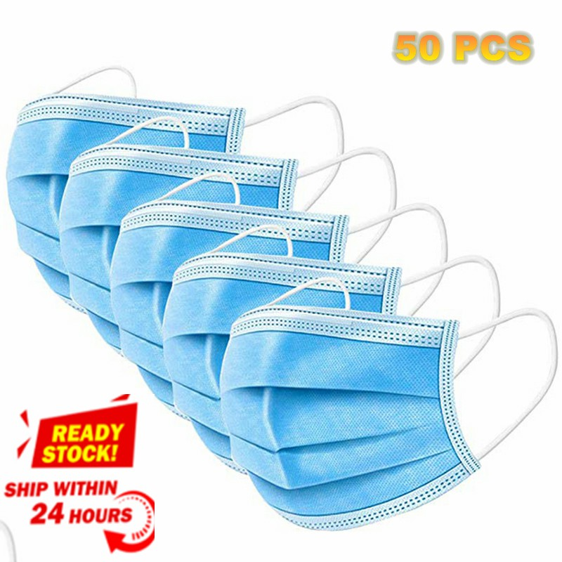Anti-Pollution 3 Laye Mask Dust Protection Masks Disposable Face Masks Elastic Ear Loop Disposable Dust Filter Safety Mask