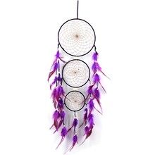 1pc Indian Dreamcatcher Net Feather Crafts Dream Catcher Chimes Handmade for Wall Hanging Home Decoration