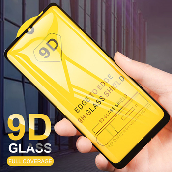 9D Curved Tempered Glass For Xiaomi Redmi Note 8 8 Pro 7 6 Note 5 5A Prime 4 4X Full Coverage Screen Protective Film 100Pcs