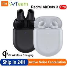 Bluetooth-наушники Xiaomi Redmi AirDots 3 Pro, TWS-наушники Mi с беспроводной зарядкой Qi, 35 дБ, наушники с активным шумоподавлением