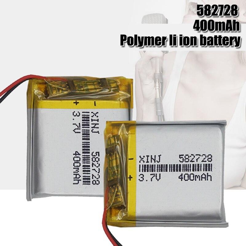 3,7 V Lipo cells 582728 400mah литиевая полимерная аккумуляторная батарея для MP3 MP4 MP5 GPS PDA ноутбука Bluetooth гарнитуры светодиодные лампы