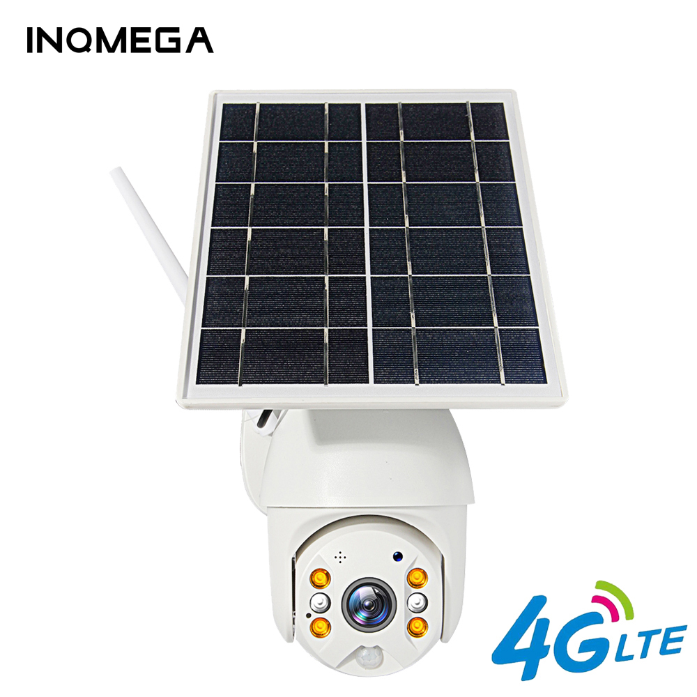 INQMEGA 4G 1080P HD Solar Panel Outdoor Monitoring Waterproof CCTV Camera Smart Home Two-way Voice Intrusion Alarm Long Standby