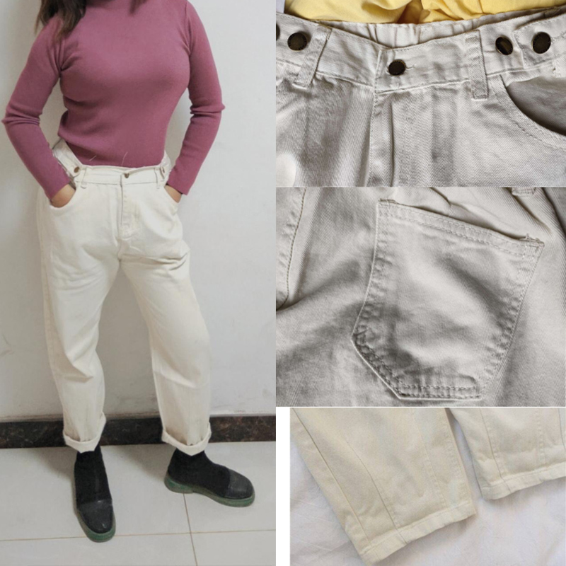 Cotton-white-Loose-boyfriend-Denim-pants-women-high-waist-plus-size-mom-jeans-black-spring-beige