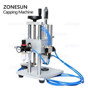 Image 5 - ZONESUN pnömatik kapatma makinesi Oral sıvı penisilin antibiyotik enjekte edilebilir şişe Capper alüminyum plastik cam flakon kıvırıcı