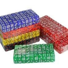 16 мм акриловые цифровые многогранные кубики, Набор шестигранных точечных забавных кубик для настольной игры D & D RPG, вечерние игровые кубики ...