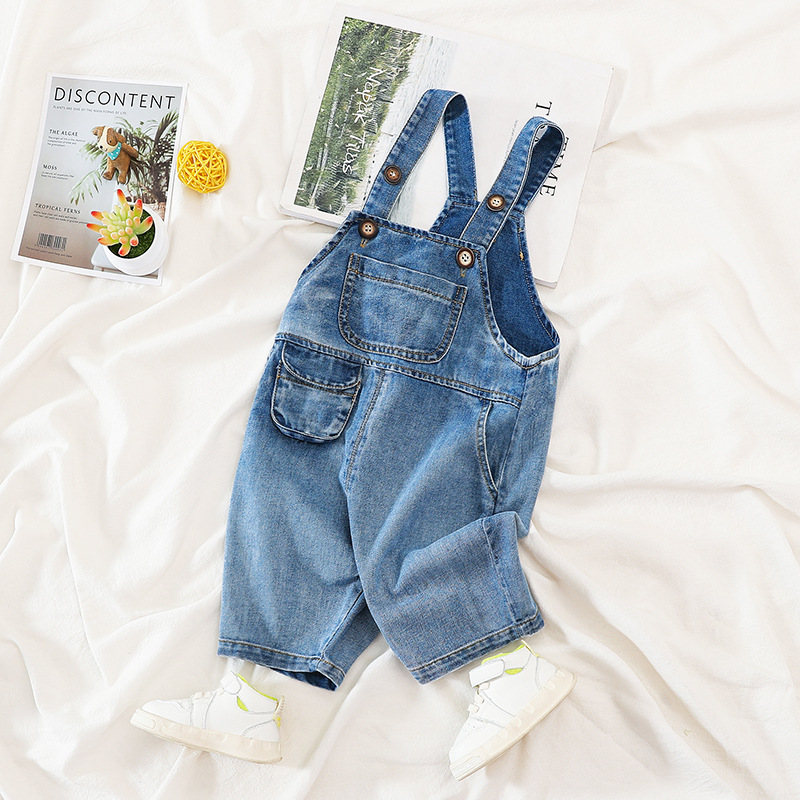 1 2 3 4 Y Kids Boys Short Denim Overalls Summer New Arrival Baby Casual Loose Short Jumpsuits Baby Boy Fashion Suspender Shorts