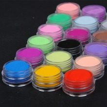COSCELIA Nail Acrylic Powder Glitter Dipping 18 Colors  For Nails Art Dust Kit