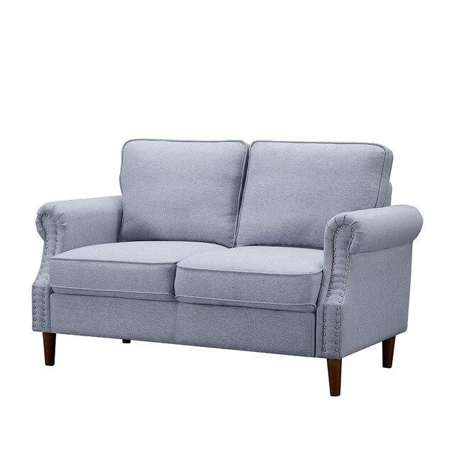 Velvet Fabric Love Seat  3