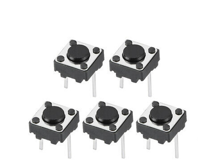 100PCS Middle 2pin 6x6x4.3/5/6/7/8/9/10 Mm Switch Tactile Push Button Switches 6x6x4.3mm 6x6x5mm 6x6x6mm 6x6x7mm 6x6x8mm 6x6x9mm