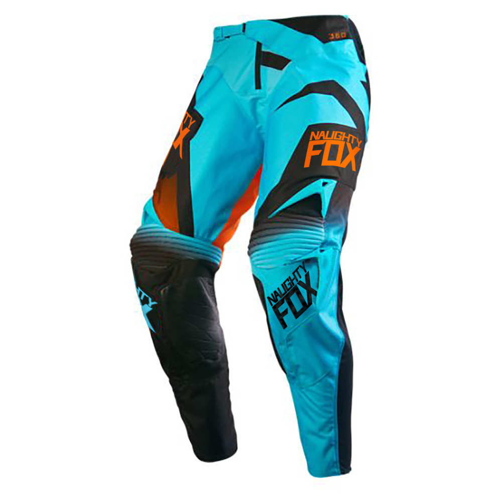 Blue NAUGHTY Fox MX 360 Pants Motocross Dirtbike Offroad ATV MTB Mens Gear Racing
