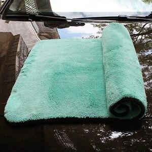 Image 2 - Chiffon de luxe en microfibre Super doux, 50x70cm/38x30 cm/1400g/m2, séchage de la cire de lavage de voiture
