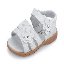 Сандалии из натуральной кожи для девочек летняя обувь с открытым