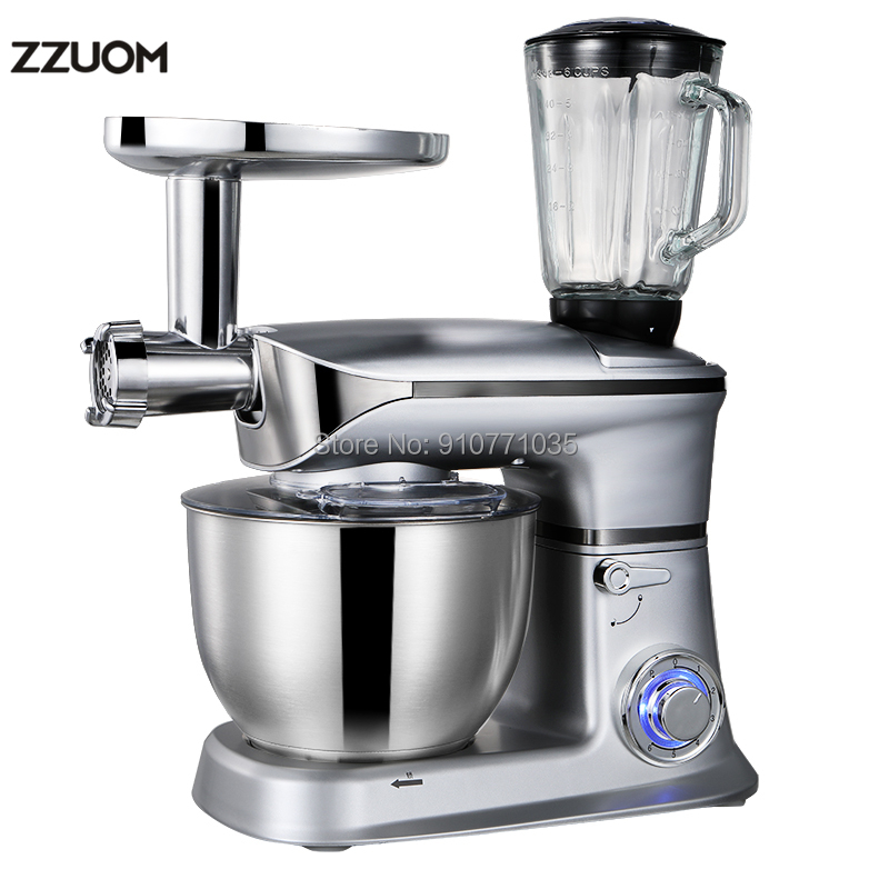 ZZUOM 6.5L Dough Kneading Machine Chef Machine Fully Automatic Egg Beater Multifunctional Mixer And Pasta Machine With Blender Food Mixers  - AliExpress
