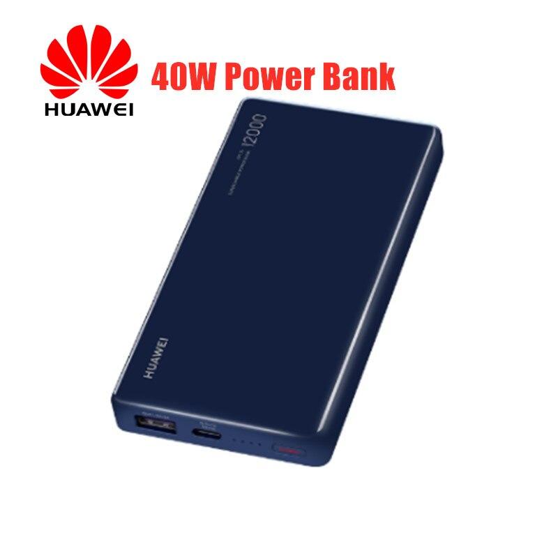 D'origine Huawei 40W batterie externe site officiel véritable 12000 mAh adapté pour Huawei P30 pro pour iphone X XS MAX tablette chargeur