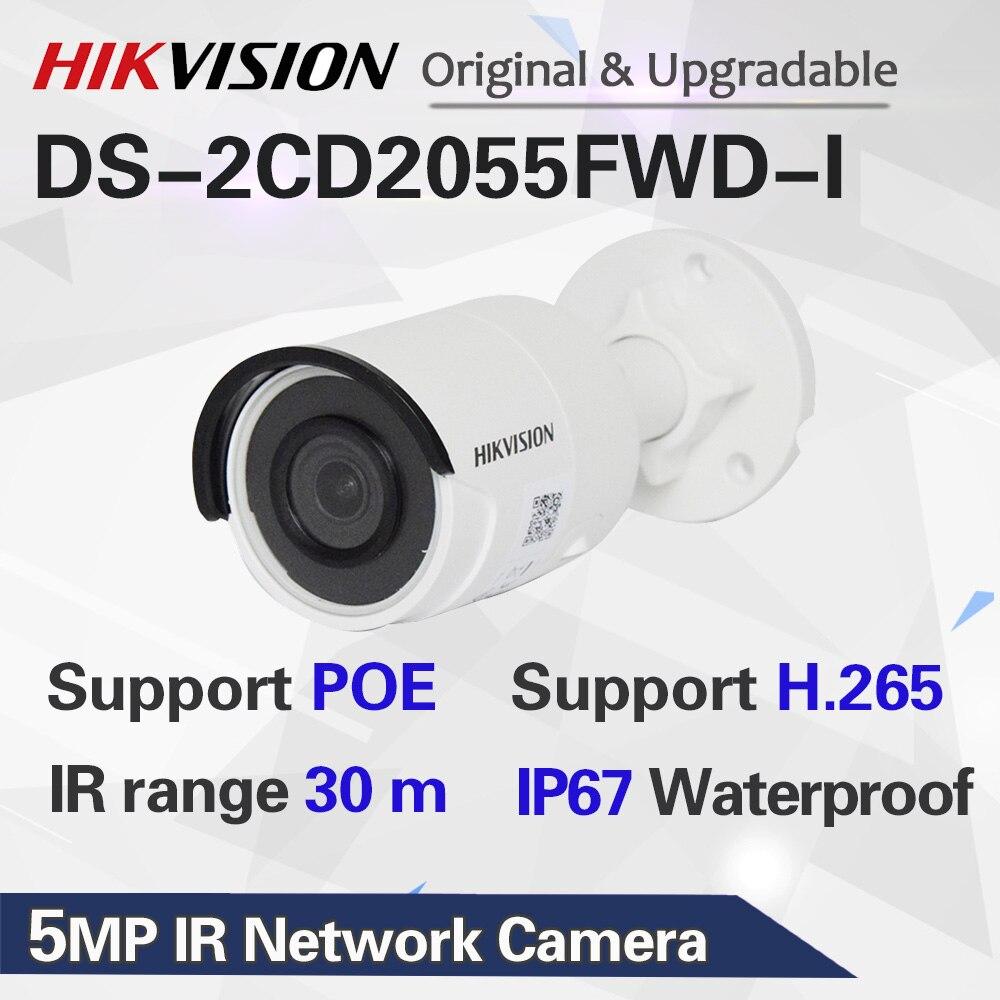 Оригинальная hik английская версия DS-2CD2055FWD-I 5MP Мини Пуля POE сетевая IP камера H265 Замена ds-2cd2052-i CCTV камера