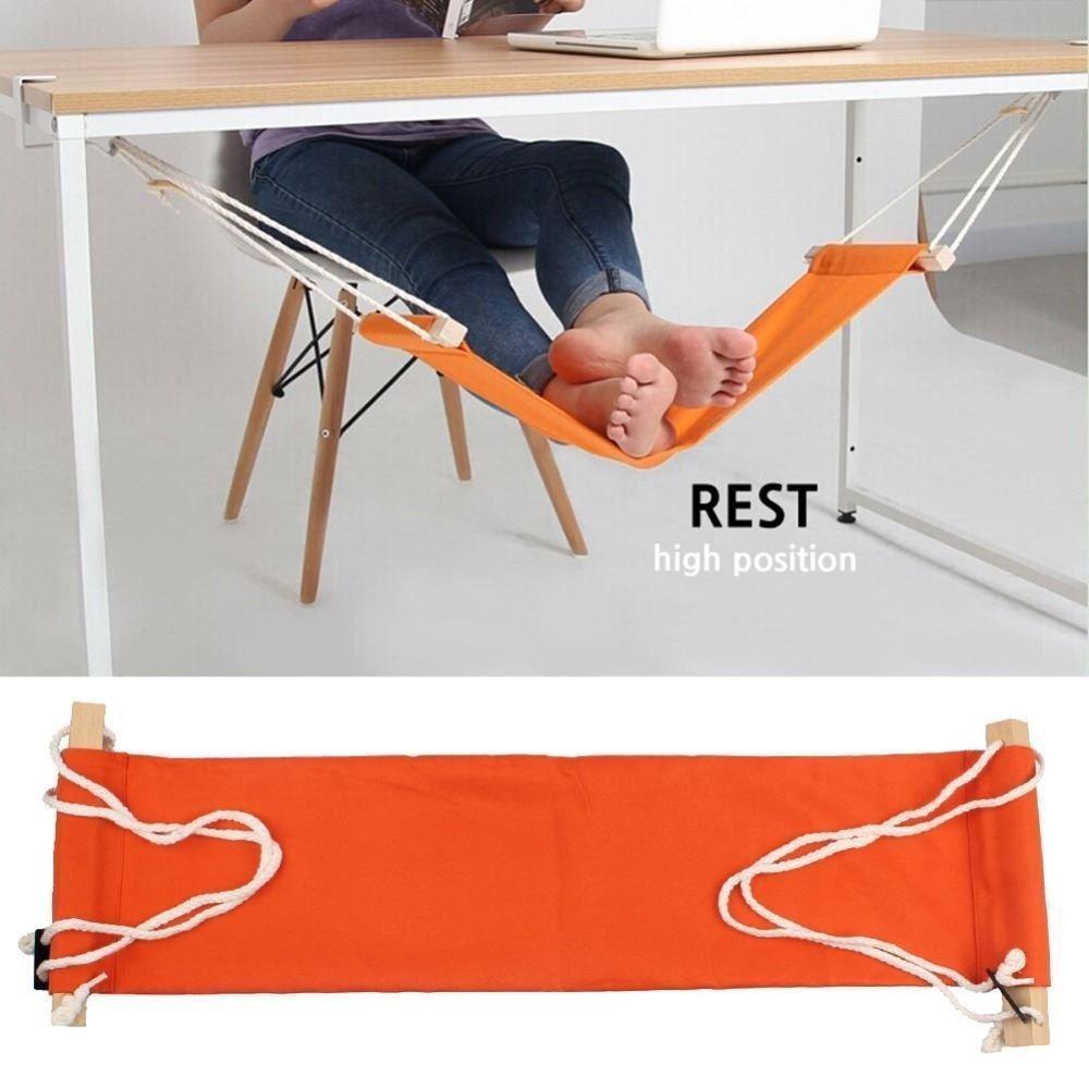 Creative Simple Foot Hammock Lazy Casual Desk Rest Foot Put Feet Foot Swing Footrest