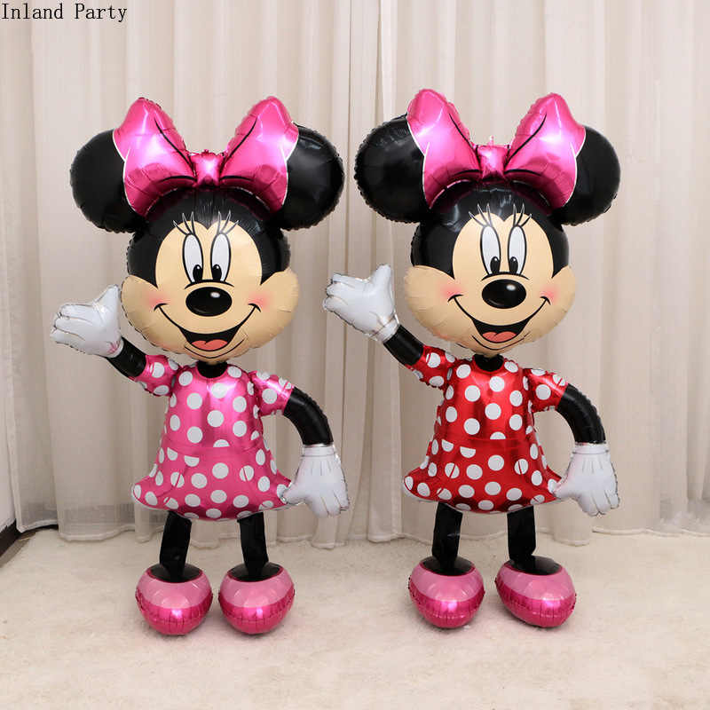 175cm 3d Giant Mickey Minnie Mouse Balloon Cartoon Foil Birthday