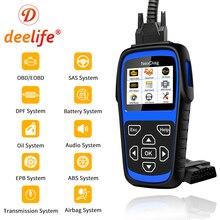 Deelife Volledige System Diagnostic Scanner Tool (voor BMW/MINI) OBD2 Airbag ABS SRS Code Reader DPF SAS BMS EPB Oil Service Reset