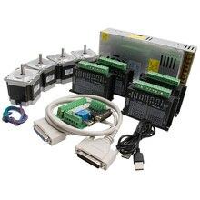 Маршрутизатор с ЧПУ комплект 4 оси, 4 шт. 1.2N Nema23 шаговый двигатель и TB6600 Драйвер+ 1 шт. MACH3 DB25 интерфейсная плата+ 1 источник питания 24 В 15A