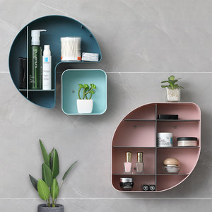 WBBOOMING Creative Free Combination HIPS Wall-mounted Living Room Storage Shelves Kitchen Bathroom Storage Organizer Container
