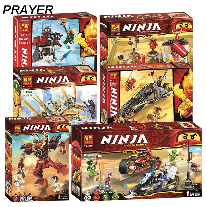 Ninjagoed 70667 70665 Legacy Monastery Training The Samurai Mech  Building Blocks Kit Brick Classic Movie Ninja Model Kids Toys