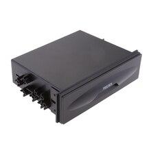 Универсальный автомобильный одиночный Din аудио стерео сменный Карманный ящик для хранения аудио конверсионная коробка 170*128*43 мм черный
