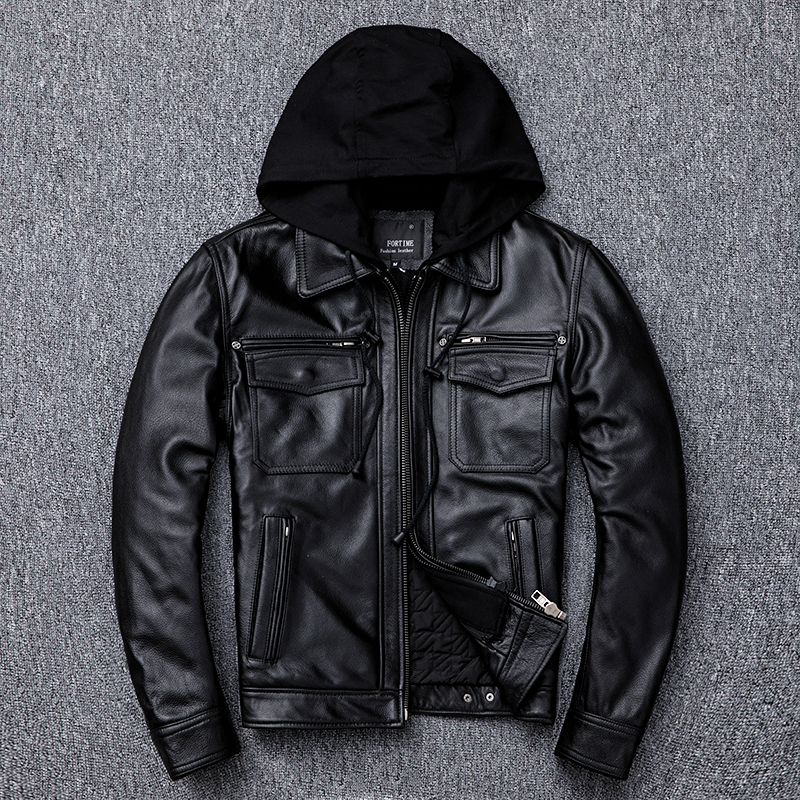Free Shipping.plus Size Mens Thicker Liner Genuine Leather Coat,winter Warm Outdoor Jacket.cowhide Jackets.Pro  Motor Biker