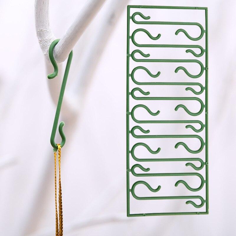 5 упаковок 50 шт. Рождественские елочные украшения Подвески Санта-Клаус куклы подвесные крючки для дома рождественские украшения Крючки для