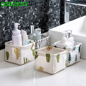 New Cotton Linen Storage Baskets For Toys Dirty Clothes Sundries Home Storage Baskets Organizer Closet Cosmetic Finishing Box