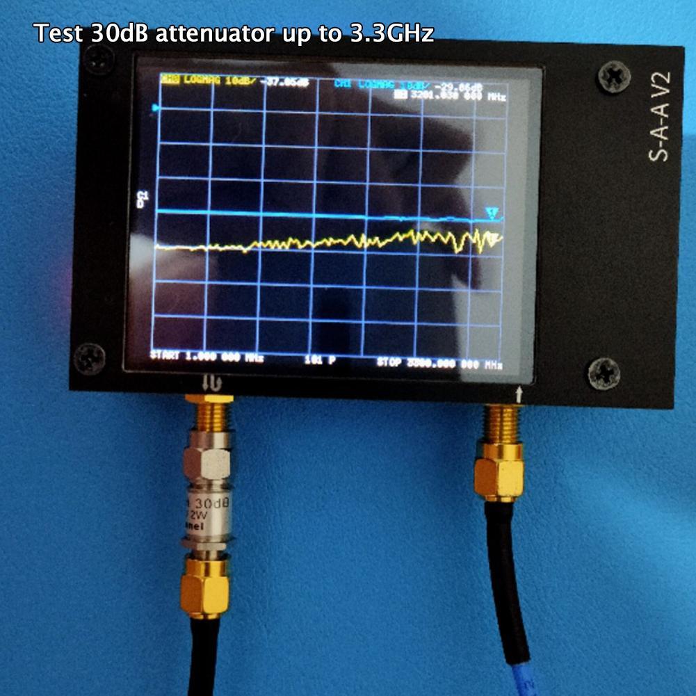 For NanoVNA V2 3GH Vector Network Analyzer Press Screen Hf Vhf Uhf Uv 50kHz-3GHz Antenna Analyzer USB Chargeable