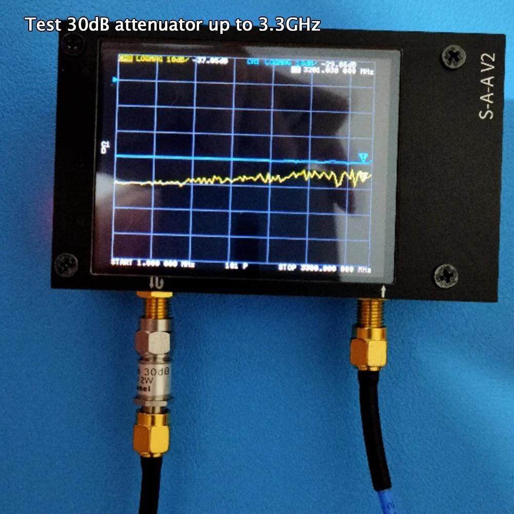 50kHz-3GHz NanoVNA V2 HF VHF UHF Vector Network Antenna Analyzer+LCD+Battery US