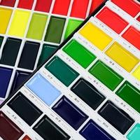 New ZIG Kuretake Gansai Tambi Japanese Water Colour Pan Paint Set of 48 Colours Japan Art Supplies