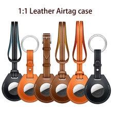 1:1 couro airtag caso para apple airtags capa protetora para airtag localizador rastreador dispositivo anti-perdido manga chave charme bagagem