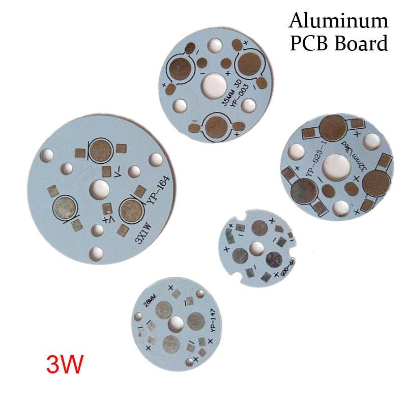 For Floodlight 3W Light Panel ,bulib Lamp Substrate DIY Aluminum Base Radiator Board LED PCB Plate
