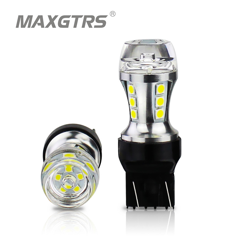 wedge fit white stop tail light bulb 2 x T20 W21//5W 580 7443 13 SMD