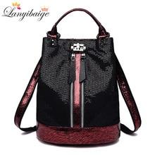 2019 Vintage backpack women high quality leather backpacks multifunction ladies shoulder bag high capacity school bag for girls