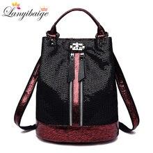 2019 Vintage sac à dos femmes de haute qualité en cuir sacs à dos multifonction dames sac à bandoulière haute capacité sac décole pour les filles